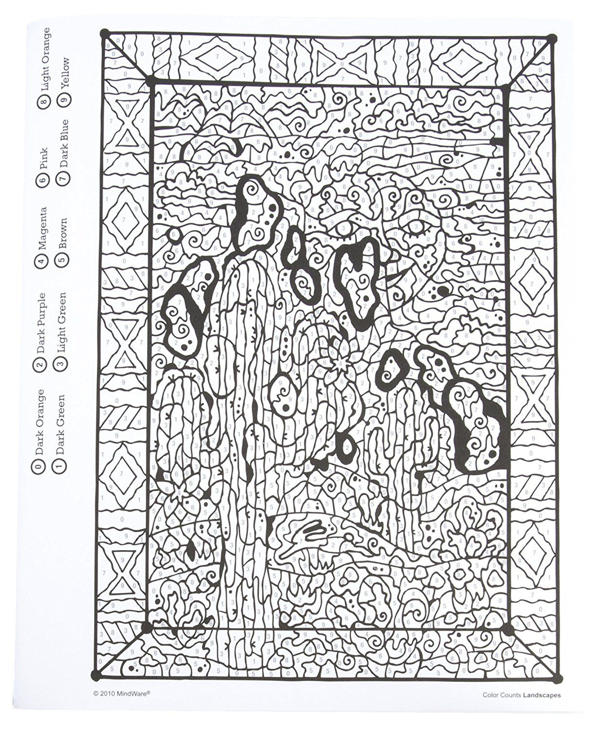 Color Counts Landscapes Color By Numbers Coloring Books Coloring Pages