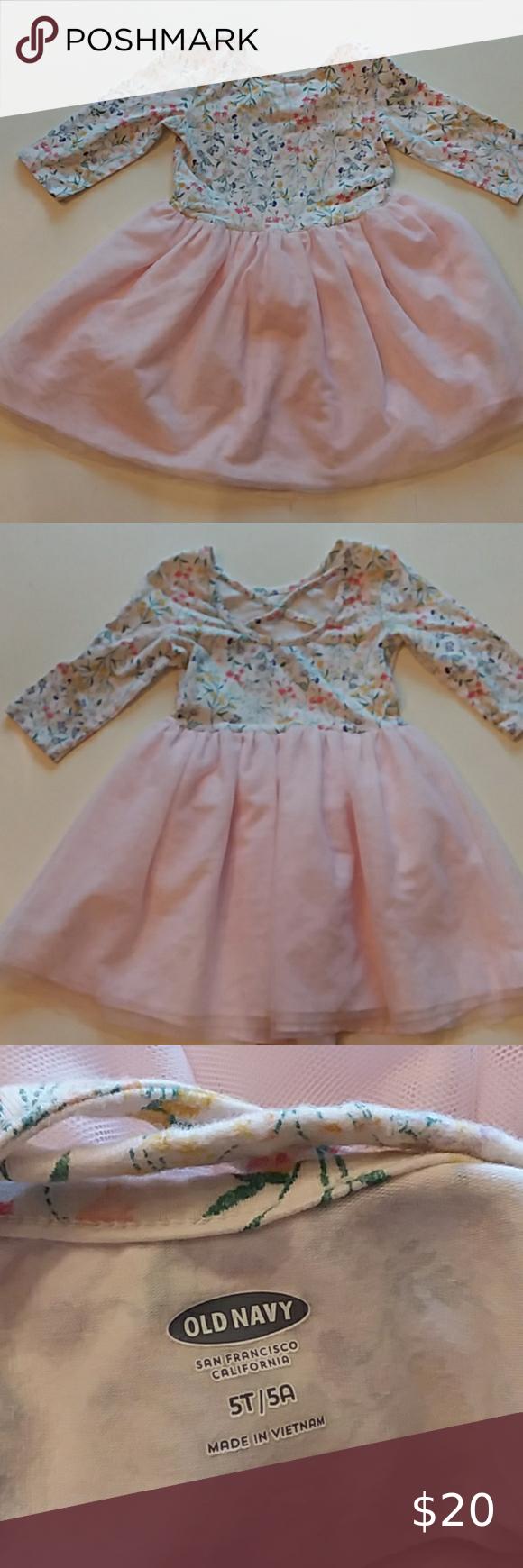 Old Navy 5t Floral Print Ballerina Tulle Dress Tulle Dress Long Sleeve Tulle Dress Dresses [ 1740 x 580 Pixel ]