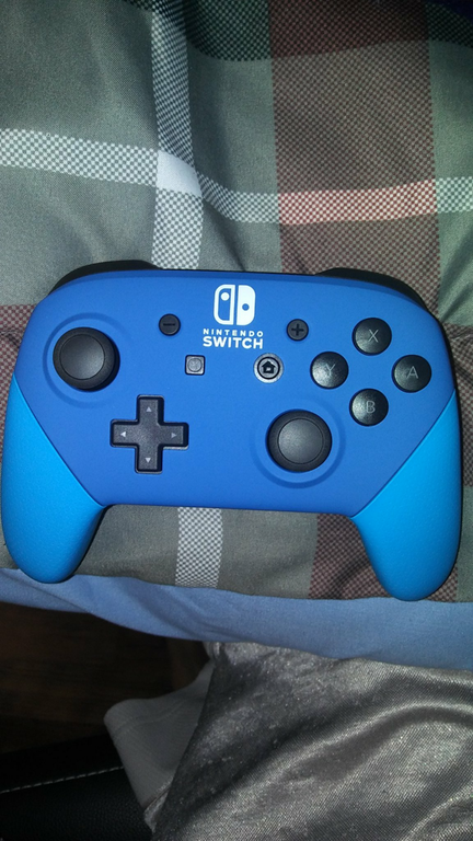 Blue and ligh blue Switch Pro Controller from ColorWare