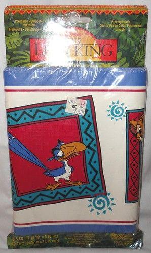 """Disney Lion King Wallpaper Border 6.83"""" x 5 yards. Pre"""