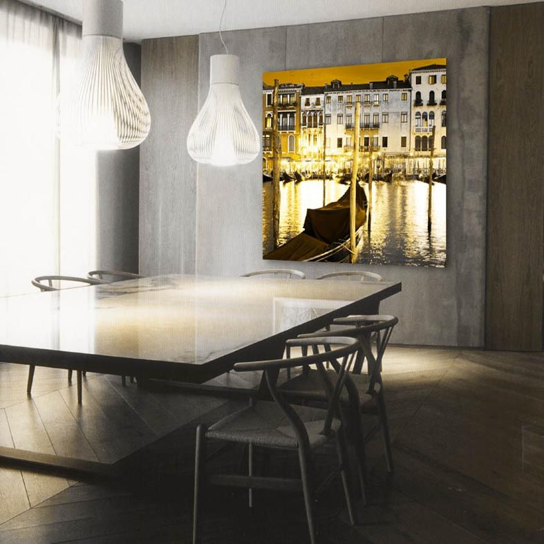 Good LED Leuchtbild GONDELN Dekorative Wand Deko mit LED Hinterleuchtung Dekoration Beltr n Ihr