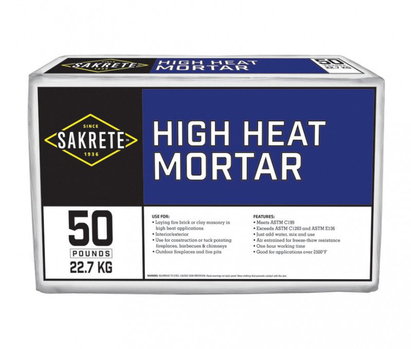 High Heat Mortar Sakrete Mortar Heat Pet Area