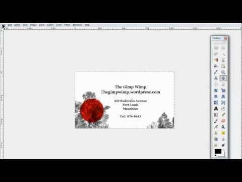 custom business card in gimp 28 by the gimpwimp youtube gimp this tutorial shows an easy way to create a simple and elegant business card in gimp which can then be pasted into a ten card template reheart Gallery