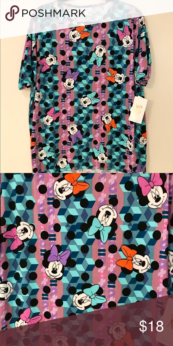 147e1975e9544 LuLaRoe Irma Disney Minnie Mouse Hard To Find LuLaRoe Irma Tunic / Colorful Disney  Minnie Mouse