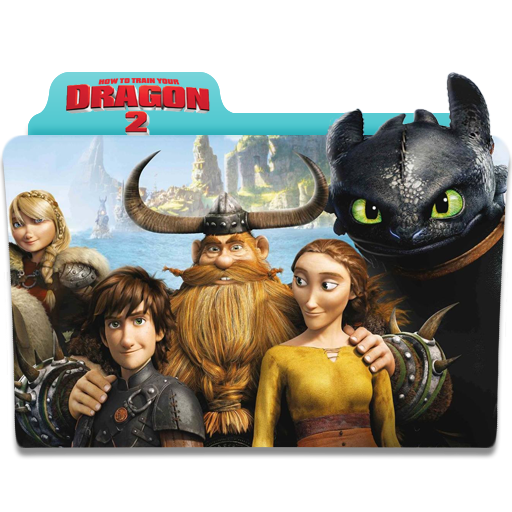 How to Train Your Dragon 2 Folder Icon by 87ashish