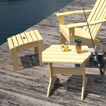 Adirondack Table. Head on over to YellaWood.com for more inspiration.
