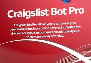 I Will show you how to get Craigslist Bot Pro aka CL Bot Pro