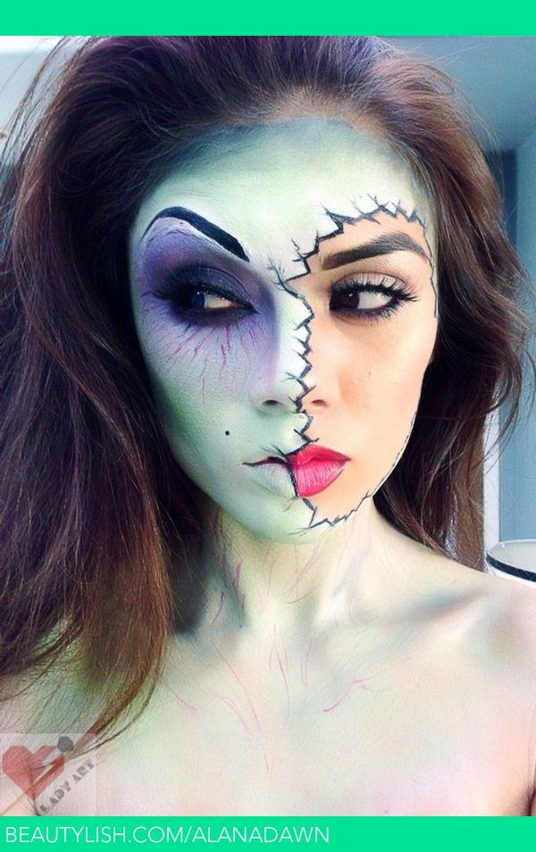 Split Face Liker Ideen Halloween Makeup Zombie Makeup