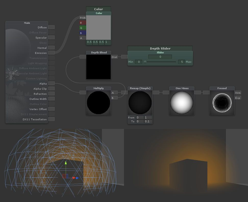 atmospheric effects starting point http forum unity3d com threads