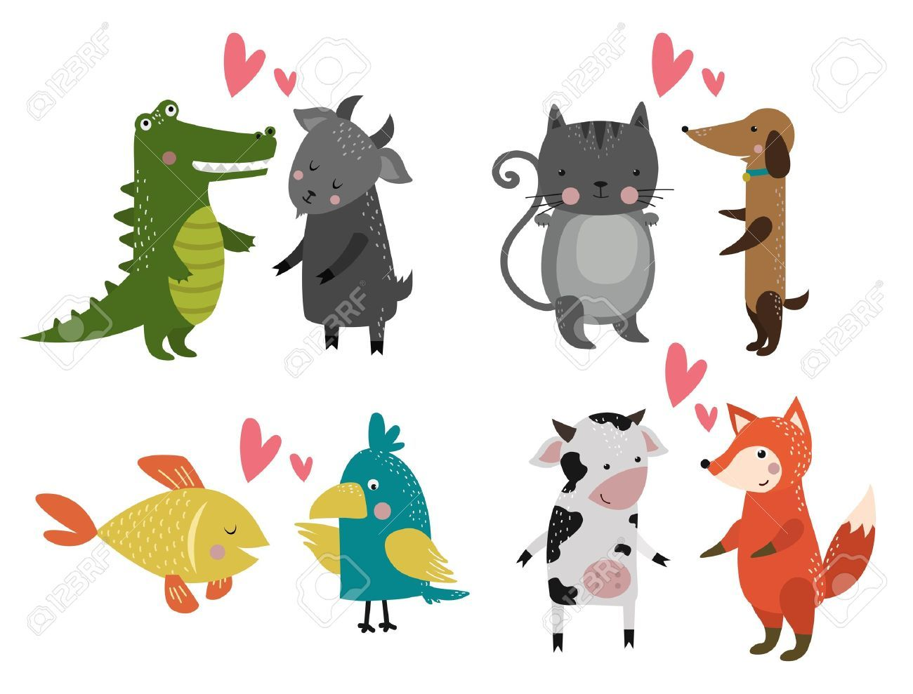 35+ Wild Animals And Pets Clipart