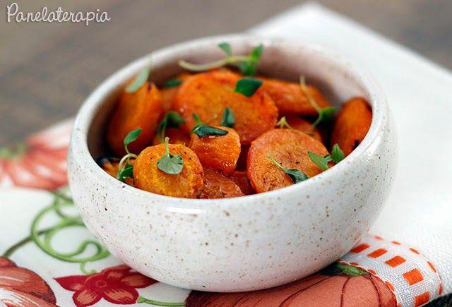 PANELATERAPIA - Blog de Culinária, Gastronomia e Receitas: Cenoura Assada com Laranja e Tomilho