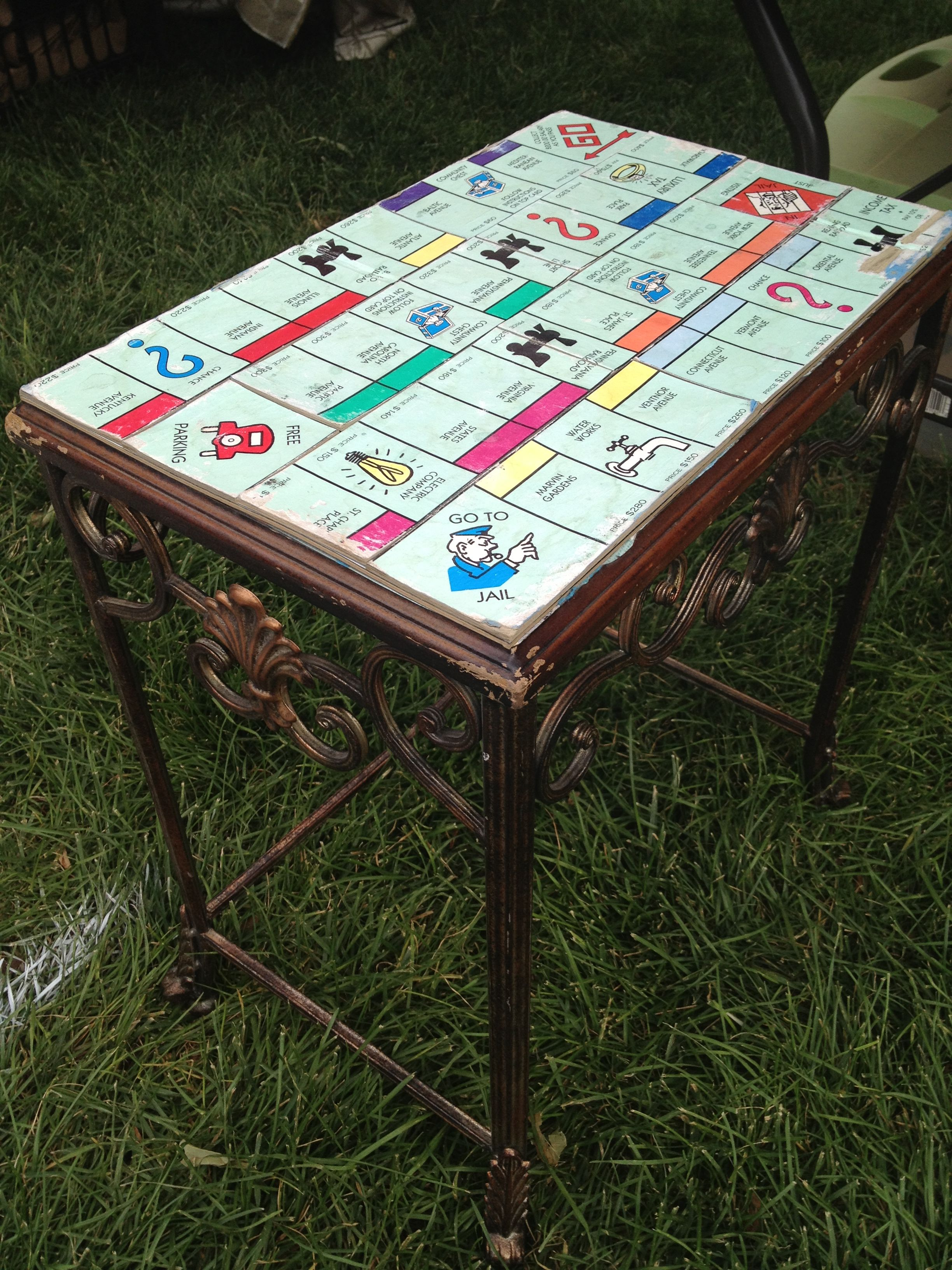 Monopoly coffee tableseen at the Utah Farmer's Market