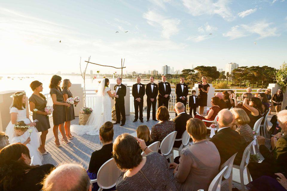 Wedding Foodu0026desire Harbour Room Rooftop Wedding Ceremony
