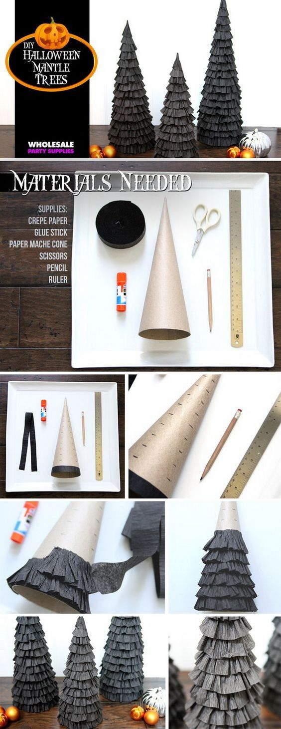 30+ Homemade Halloween Decoration Ideas   Crepe paper streamers ...