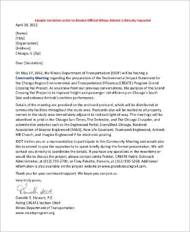 sample invitation letter examples pdf word acting format - sample invitation letter