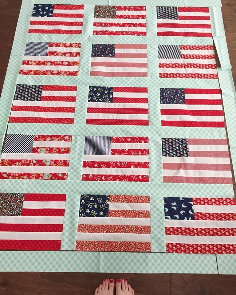 Camille Roskelley of Thimble Blossoms made this flag quilt out of ...