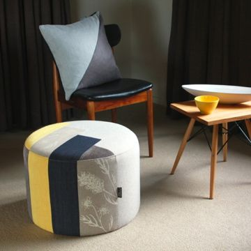 Modern Patchwork Cushion And Ottoman From flaunt.com.au