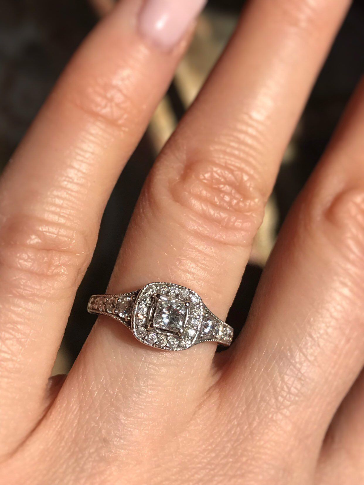 5fb8ad16d5330 About 0.80 carat Diamond Engagement ring. Offering layaway in 2019 ...
