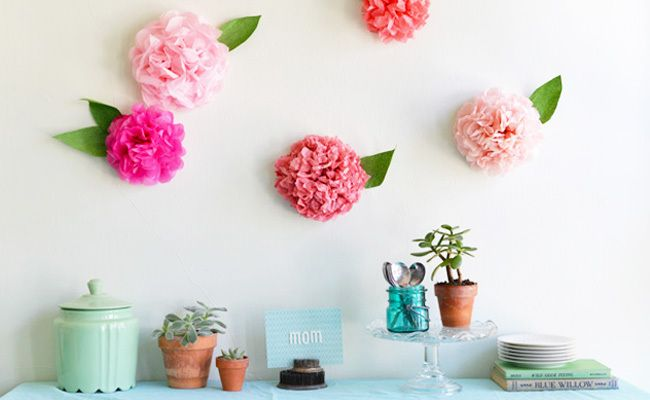 DIY Paper Wall Peonies for Mother's DayBrunch