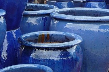 Blue Glazed Pots Large Garden Planters And Vases Woodside Centre To Inspire