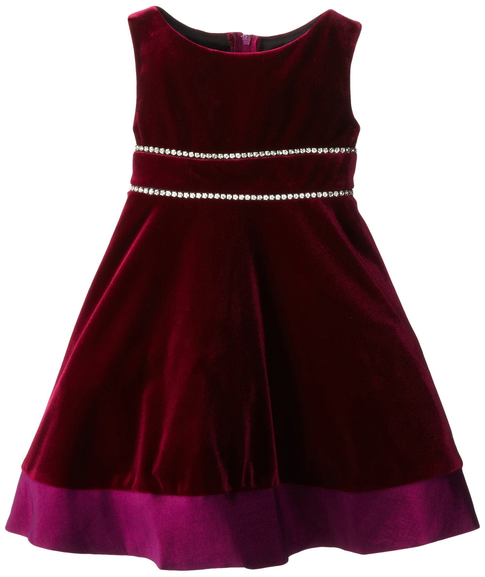 cce32a7ec Amazon.com  Rare Editions Little Girls  Velvet Dress with Taffeta ...