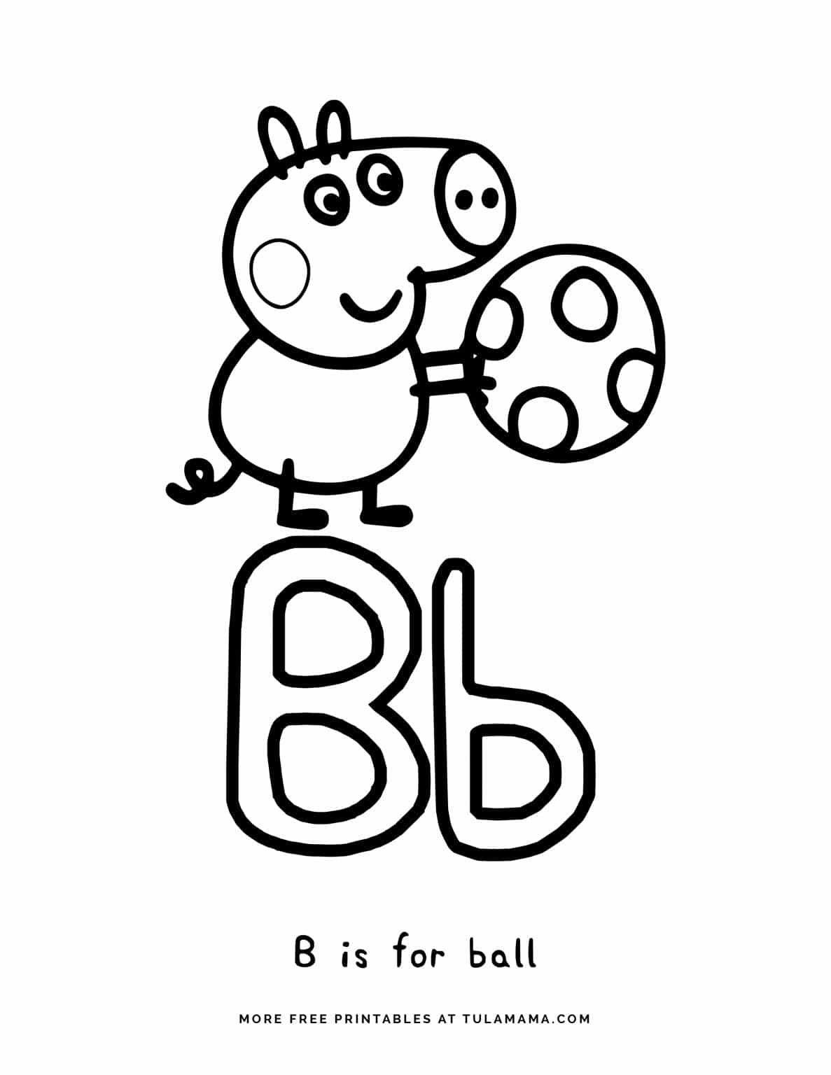 Free Printable Peppa Pig Abc Coloring Pages For Preschoolers Abc Coloring Pages Abc Coloring Letter A Coloring Pages [ 1536 x 1187 Pixel ]