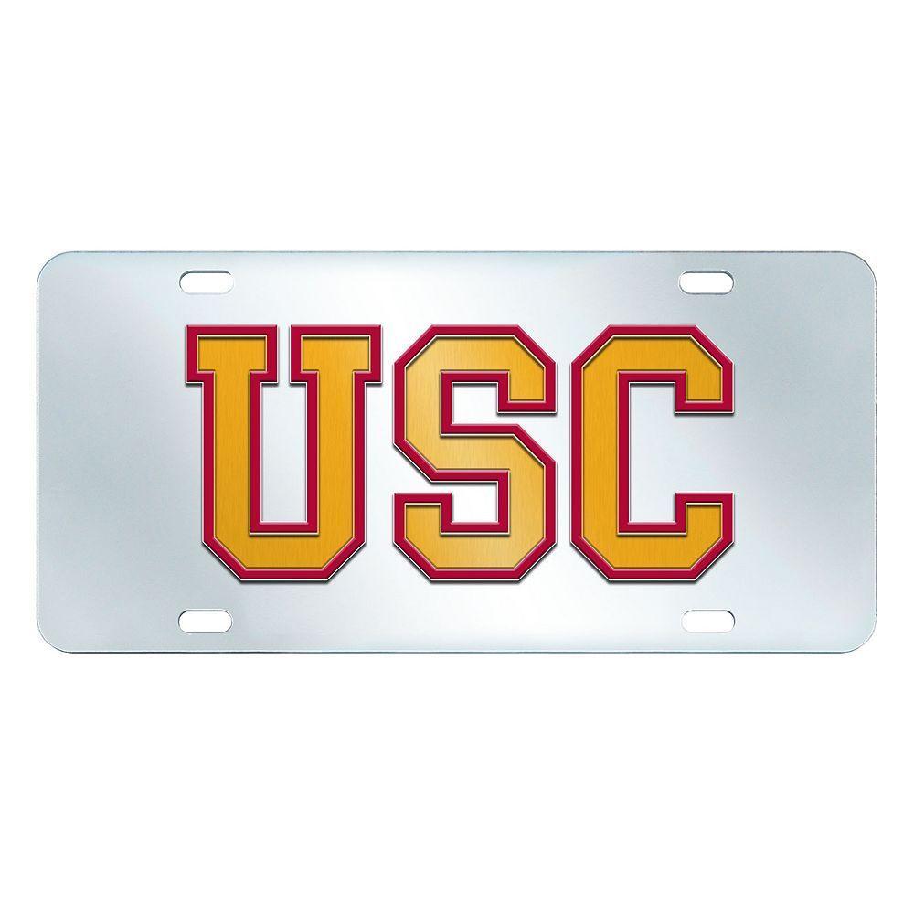 USC Trojans Mirror-Style License Plate, Multicolor