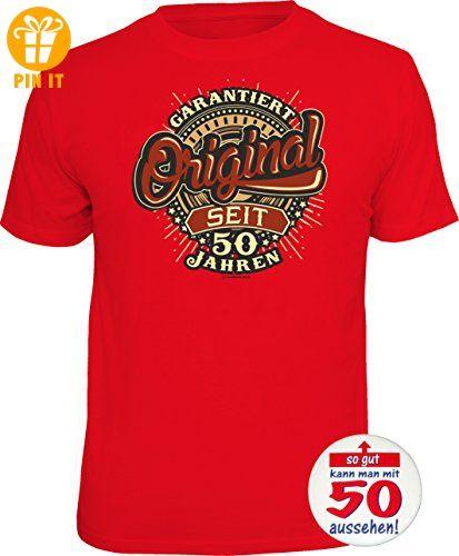 dcc708acaf0367 1842 Geschenke-Set 50. Geburtstag: T-Shirt 50 JAHRE - GARANTIERT ...