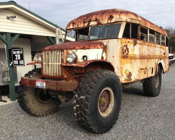 Craigslist Find: A 1942 Dodge School Bus Mounted On A Deuce And A
