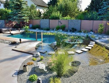 Conversion To Natural Pool With Integrated Whirlpool Natural Pool Backyard Pool Designs Natural Swimming Pools