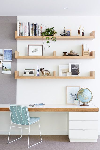Superbe 17 Scandinavian Home Office Designs That Abound With Simplicity U0026 Elegance  Floating Shelves Bedroom, Floating