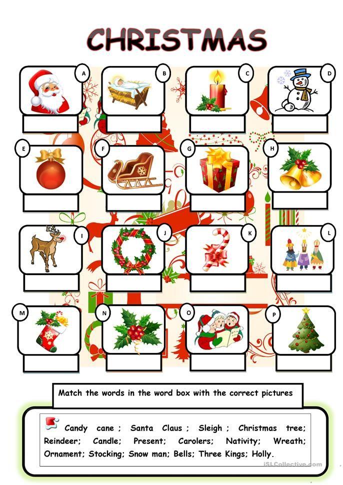 christmas vocabulary worksheet free esl printable free printable worksheets english. Black Bedroom Furniture Sets. Home Design Ideas