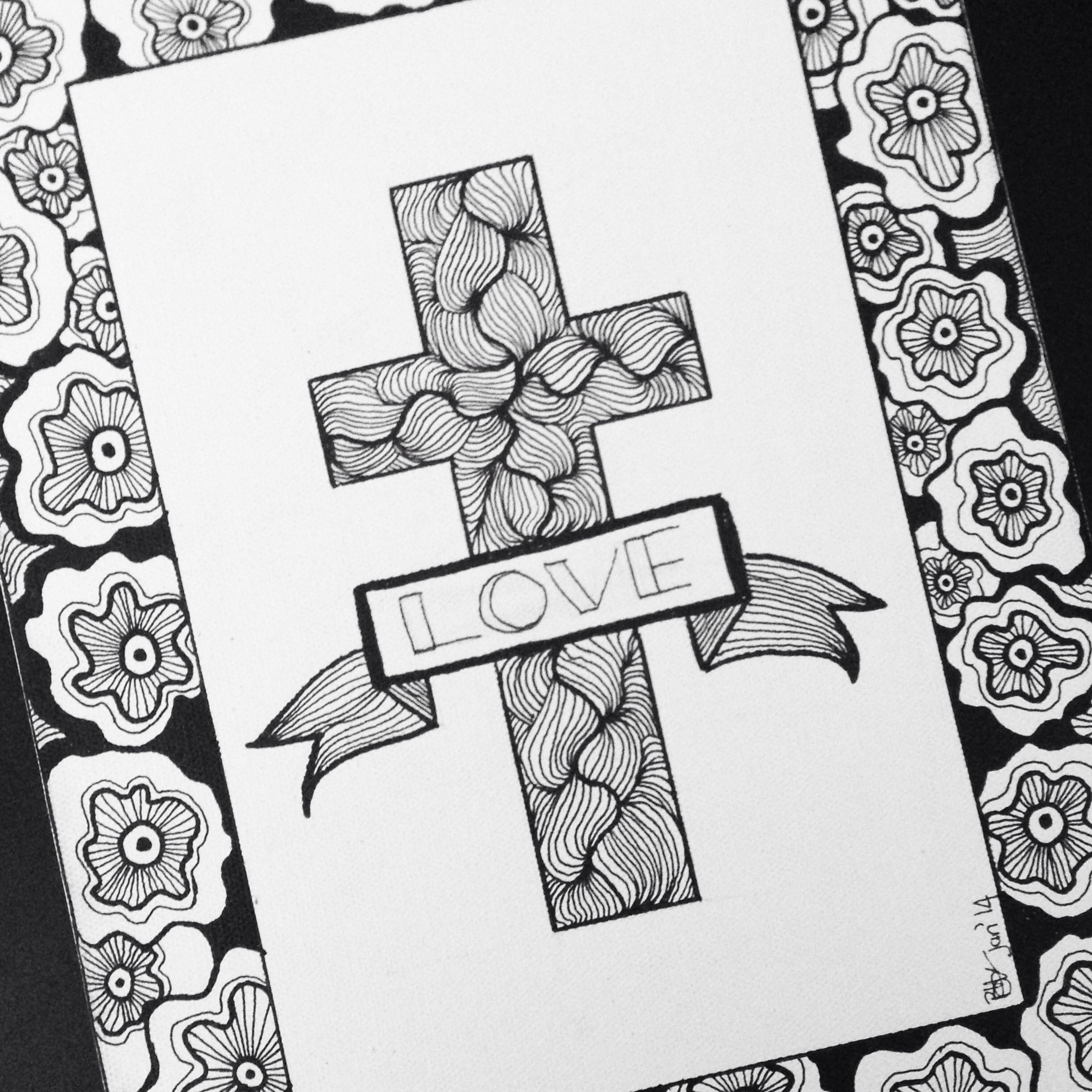 Doodle cross I did for my mom