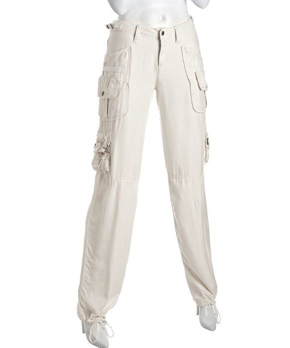 7e1468369ad Da-Nang bleach silk cargo pants