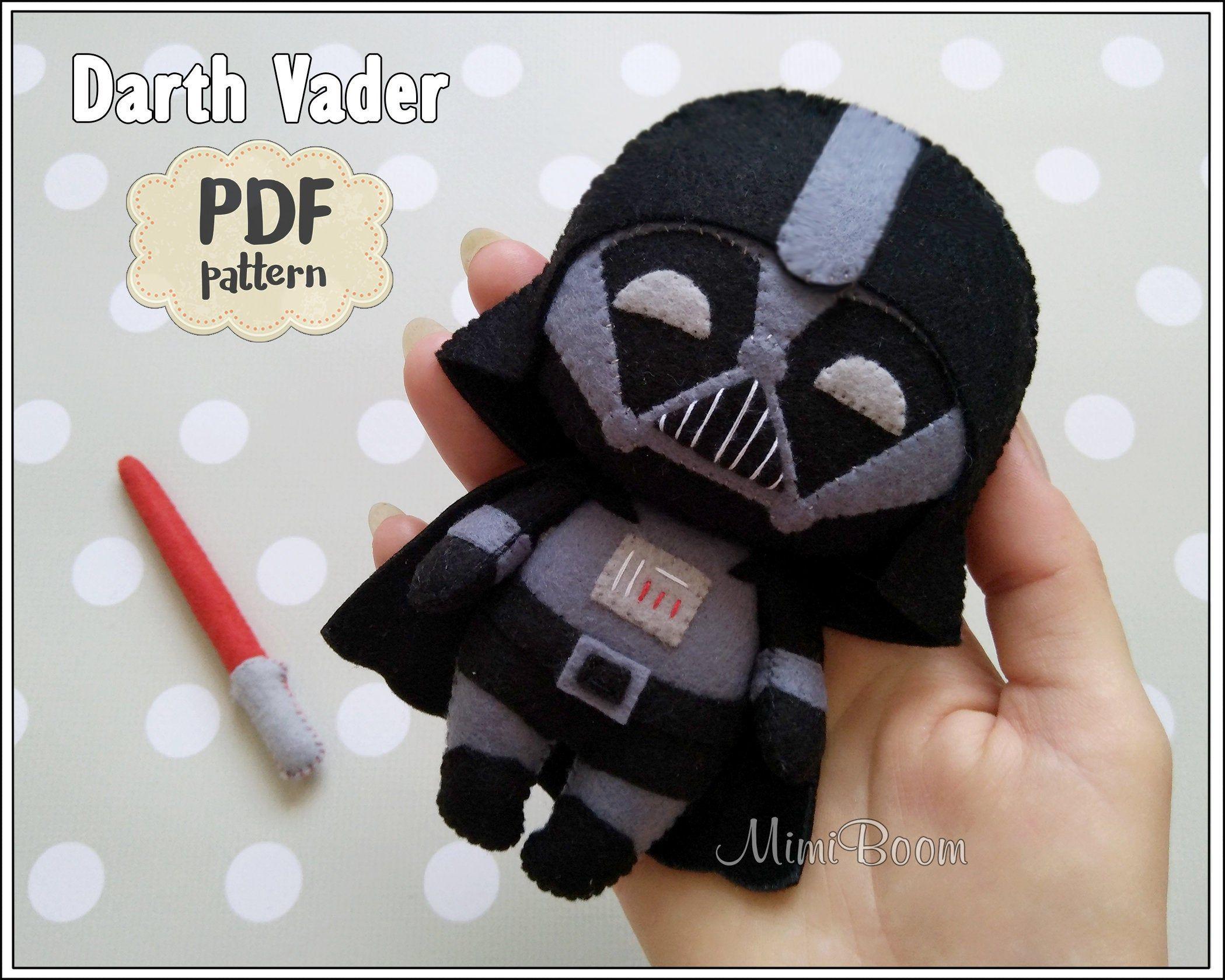 Cute Vader Pattern Felt Jedi Pattern Wars Doll Pattern Easy Etsy Juguetes De Fieltro Regalos De Fieltro Llaveros De Fieltro