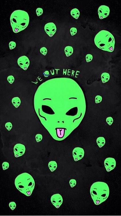 We Out Here Trippy Alien Ripndip Wallpaper Alien Art