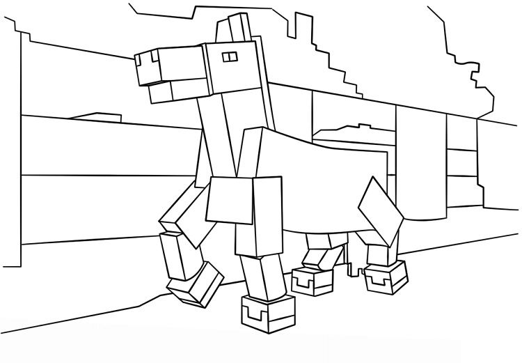 minecraft horse coloring pages | http://prinzewilson.com ...