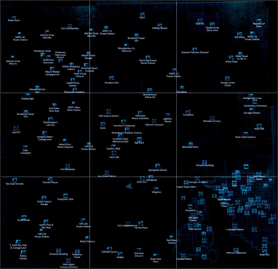 Fallout 3 World Map Nightcap Us Within | jiji | Pinterest