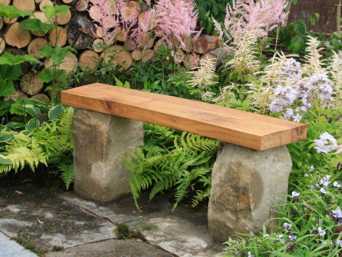 Rustikale Gartenbank sorgt für einmaliges Exterieur   Gartenbank ...