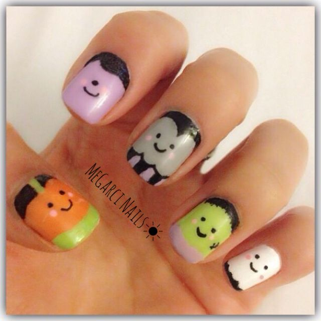 Halloween MeGarci Nails... Halloween Nail Art: Jack O Lantern Nails ...
