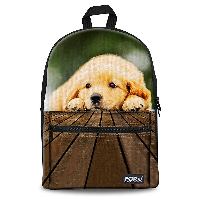 hugsidea cute animal cat pet dog backpack teen school book bag