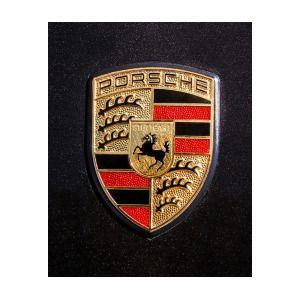 Porsche Hood Emblem - 0674c45 Art Print by Jill Reger