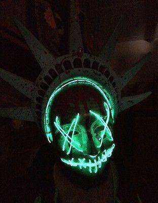 La Purge 3 Masque Halloween Degui T Illumine Statue De Liberte Neon