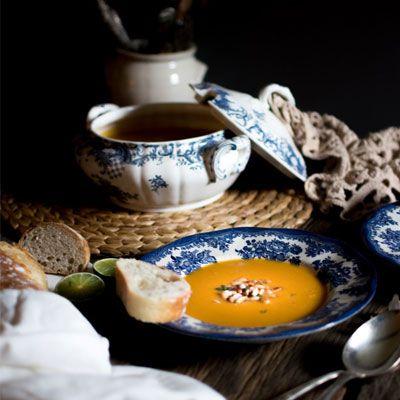 Zoete aardappelsoep met kokos en limoen - Powered by @ultimaterecipe