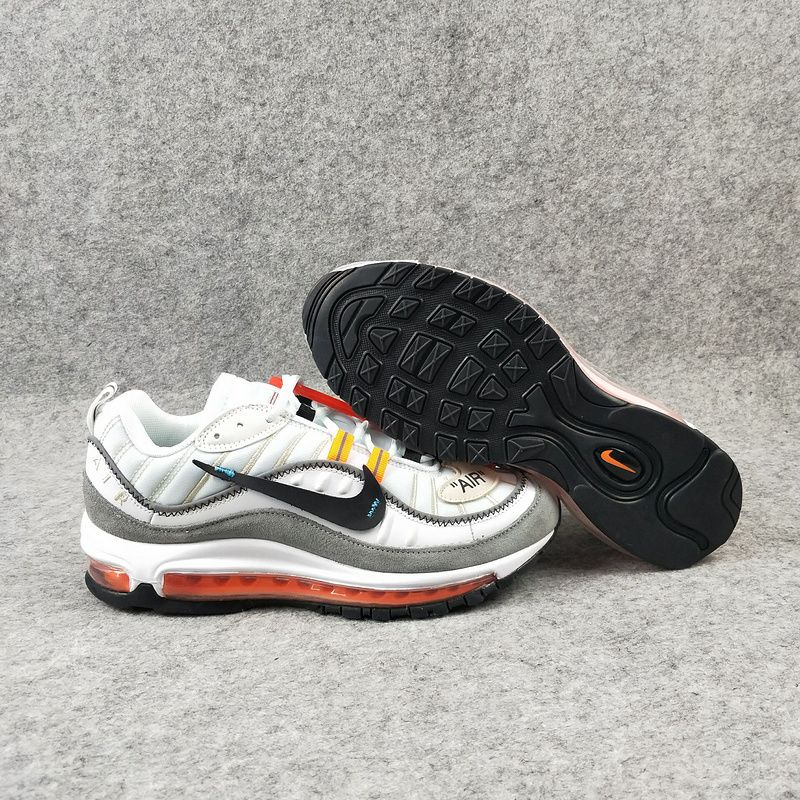 barato Mens Nike Air Max 98 Running Shoes University Red