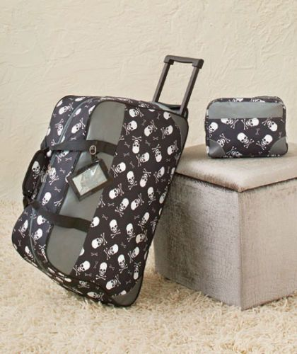 Skull 2 Pc Rolling Duffel And Toiletry Bag Sets Lugage