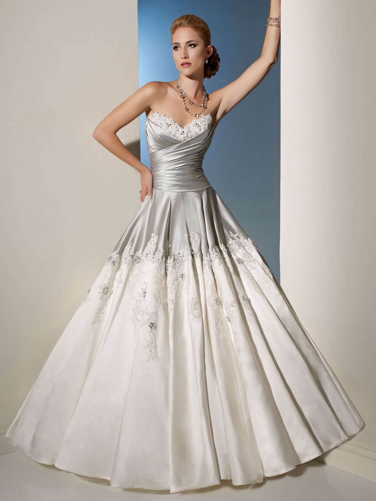 White and silver wedding dresses  Silver Bodice Wedding Dress  Wedding Dress  Pinterest  Bodice
