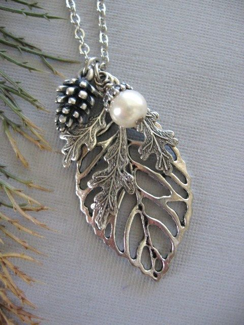 Leaf necklace leaf jewelry oak leaf silver leaf by charmedvalley leaf necklace leaf jewelry oak leaf silver leaf by charmedvalley 2500 aloadofball Image collections