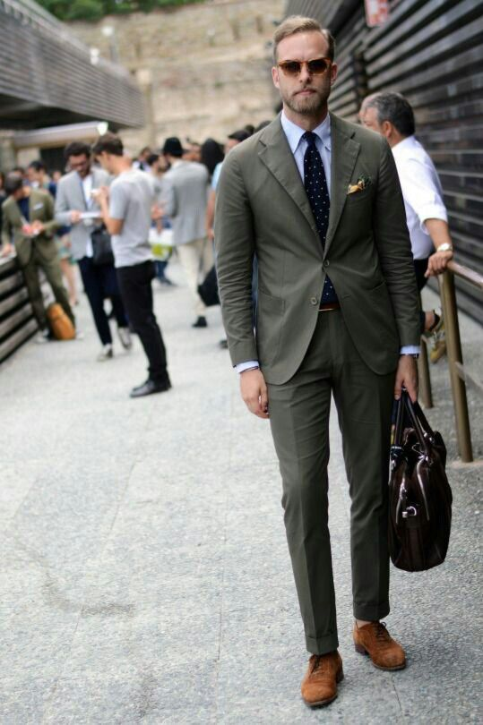 c21e7b73517 Olive green suit