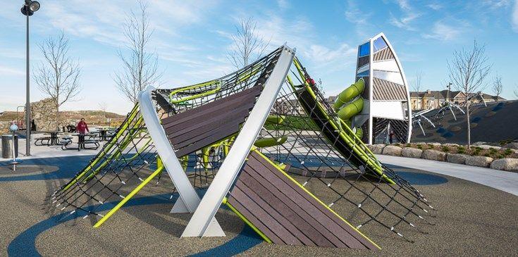 Central park of maple grove innovative playground